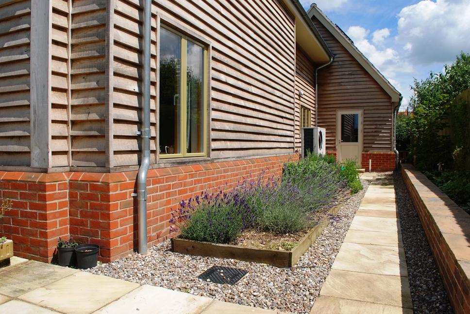 Clinker House Timber Clad Garden
