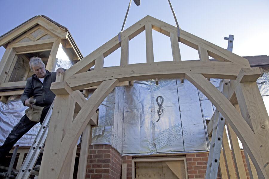 Colemans Hill Farm Oak Hybrid Frame Installation