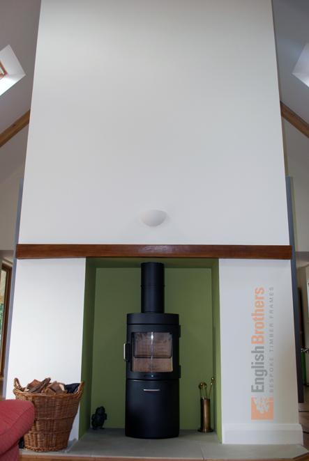 Elmer House Timber Clad Wood Burner