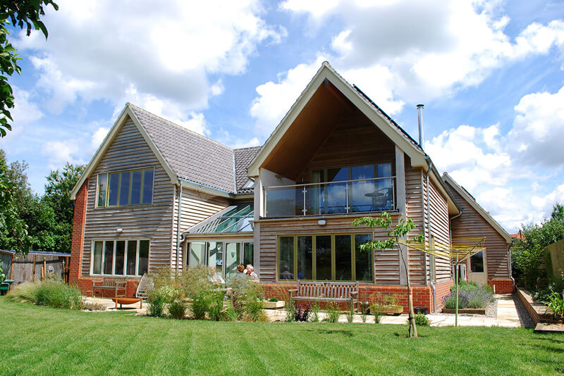 Timber framed and fronted bespoke built property